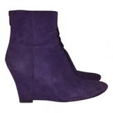 Jimmy Choo Purple Suede Boots