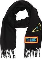 Fendi Words & Monster Wool Knit Scarf