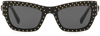 Versace Rock Icons 52MM Rectangle Sunglasses