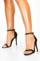 boohoo Maddie Suedette Skinny Barely There Heels