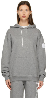 Moncler Grey Oversized Logo Hoodie