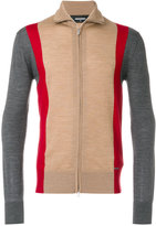 DSQUARED2 zipped colour block cardigan