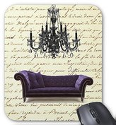 BigMouth Custom Shabby Chic Vintage Sofa Chandelier Save The Date Mouse Pad
