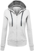 William&Lisa Womens Active Soft Zip Up Fleece Hoodie Sweater Jacket(7 Colors)