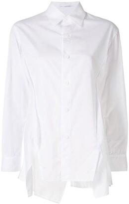 Yohji Yamamoto Raw-Hem Reconstructed Shirt