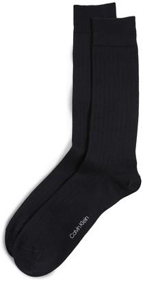 Calvin Klein Underwear Cotton Rib Dress Socks