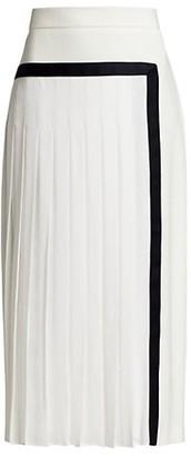 Max Mara Pinne Pleated Midi Skirt