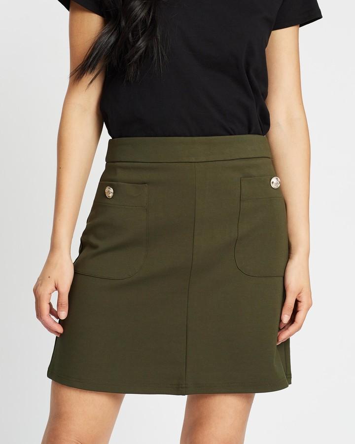 Dorothy Perkins Button Pocket Mini Skirt