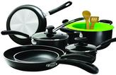 Ecolution Heavy Weight 12-Piece Cookware Set in Black