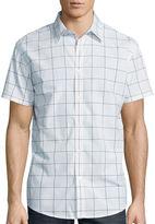 Jf J.Ferrar JF Short-Sleeve Windowpane Woven Button-Front Shirt