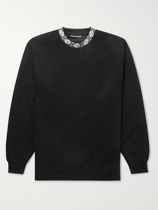 Acne Studios Oversized Logo-Jacquard Fleece-Back Jersey Sweatshirt
