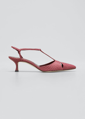 Manolo Blahnik Taurus Snakeskin 50mm Sandal