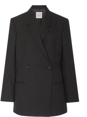 Totême Loreo Oversized Double-Breasted Wool-Blend Blazer