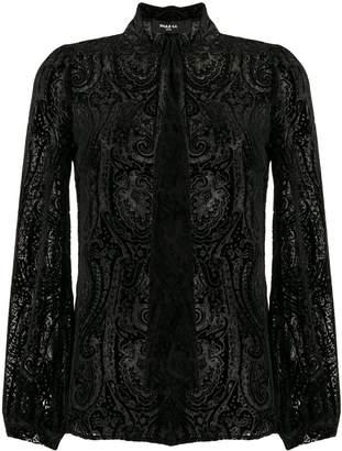 Paule Ka devoré paisley blouse