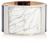 Balenciaga Marble-effect plate leather bracelet