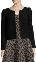 Co Heavy-Gauge Ribbed Open-Front Cardigan