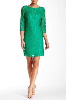 Brinker & Eliza 3/4 Length Sleeve Lace Shift Dress