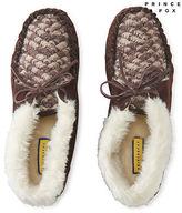 Aeropostale Womens Prince & Fox Faux Fur Cuff Moccasin