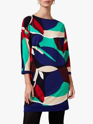 Phase Eight Adalee Leaf Dress, Blue/Multi