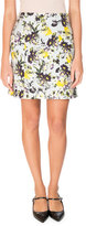 Erdem Adele Floral-Print Mini Skirt, Yellow/Blue