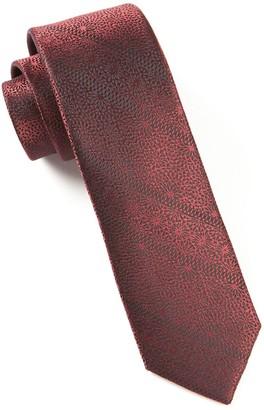 Tie Bar Interlaced Burgundy Tie