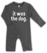 Urban Smalls Charcoal 'It Was the Dog' Playsuit - Infant