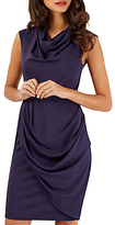 Closet Cowl Neck Draping Dress, Navy