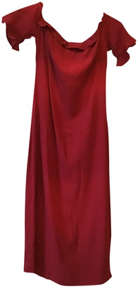 Reformation Red Silk Dresses