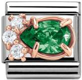 Nomination Couture Rose Gold & Green CZ Drop Classic Charm 430309/03