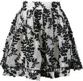 Zimmermann 'Winsome' vine embroidered skirt