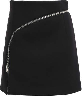 Alexander Wang Zip-detailed Cady Mini Skirt