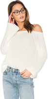 525 America Off Shoulder Sweater in White. - size L (also in )