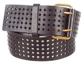 Saint Laurent Perforated Leather Belt