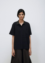 Jil Sander dark blue short sleeve polo t-shirt