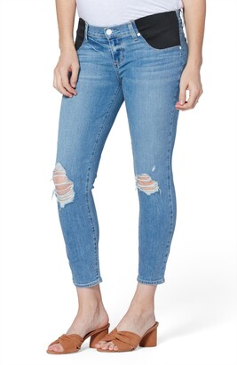 Paige Verdugo Crop Skinny Maternity Jeans
