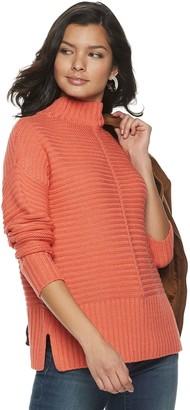 Apt. 9 Petite Mockneck Ribbed Sweater