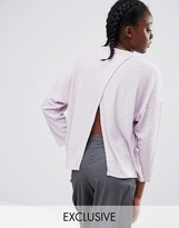 Monki Pocket Sweater With Split Back