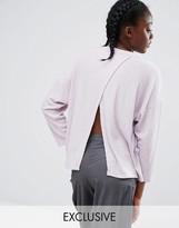Monki Pocket Sweater With Split Back
