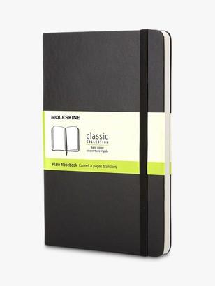 Moleskine Pocket Sized Hard Cover Plain Notebook, Black