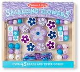 Melissa & Doug ; Sparkling Flowers Wooden Bead Set