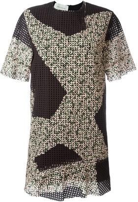 Cédric Charlier Eyelet Mini Dress