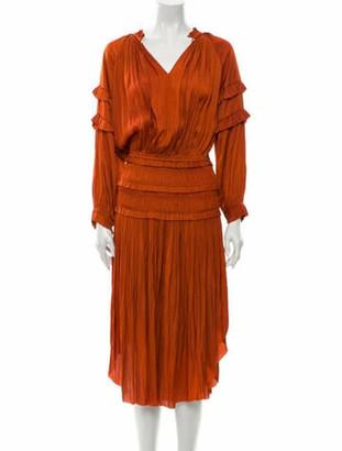 Ulla Johnson V-Neck Long Dress Brown