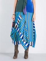 Diane von Furstenberg Striped silk-twill midi skirt