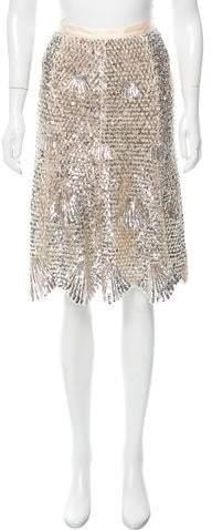 Derek Lam Sequined Knee-Length Skirt w/ Tags