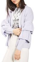 Topshop Women's Ruffle Sleeve Cardigan