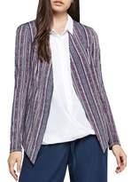 BCBGeneration Folk Geo Stripe Tuxedo Blazer