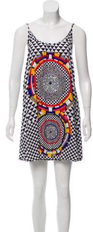 Red Carter Printed Tent Dress w/ Tags