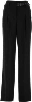Prada Buckled Wide-Leg Pants