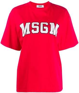 MSGM college logo T-shirt