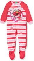 Sesame Street Elmo Christmas Blanket Sleeper Pajamas for girls